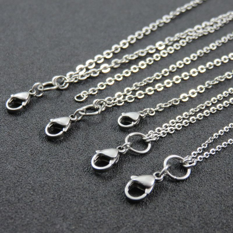 Silver Cross Locket Chain Stainless Steel Floating Locket Chains For Man Women Fashion Jewelry 60cm 70cm 80cm 90cm locket