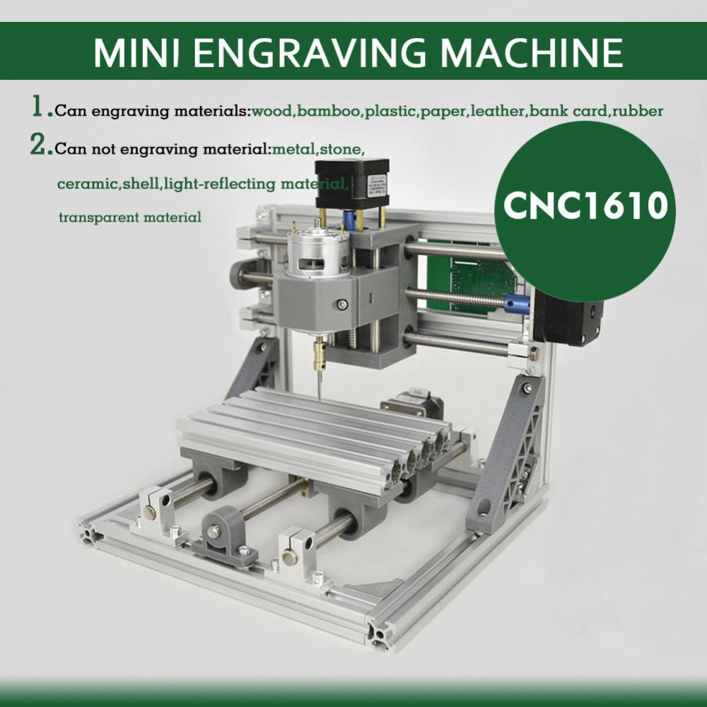 цена на CNC 1610 Router 3 AXIS carving machine for PCB milling & laser head mini engraving machine