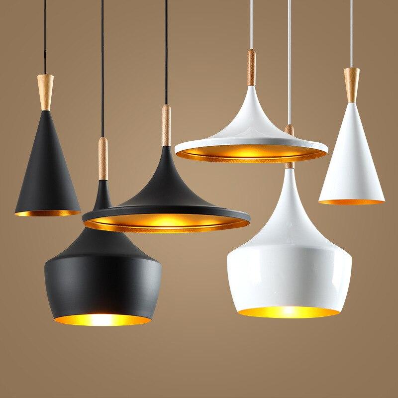 Modern led Conical Pot pendant light Aluminum & Hemp Ropel for home, Industrial lighting hang lamp bar cafe droplight fixture modern led conical pendant light aluminum