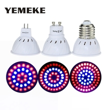 E27 GU10 MR16 LED Grow Light With180 Degrees Flexible Lamp SMD2835 220V Full Spectrum Red+Blue For Desktop Plants 36 54 72LEDS