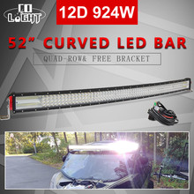 CO LIGHT 22 32 42 52 12D Curved LED Work Light Combo Offroad Driving Led Bar 12V 24V Light Bar for 4X4 Jeep Trucks ATV SUV co light 12d led bar curved 405w led light bar 32led light bar strobe work light combo led auto lamp for atv jeep truck offroad