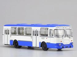 1:43 Оригинальный русский 677 м автобус модель синий модель автобуса из сплава Коллекция модели автомобиля