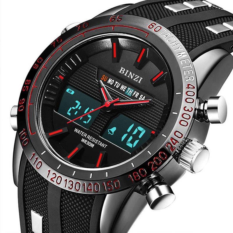Homens relógio esportivo 2018 top marca de luxo relogio masculino homens militar relógio de pulso crono relógio de pulso à prova d 'água meskie masculino relógio