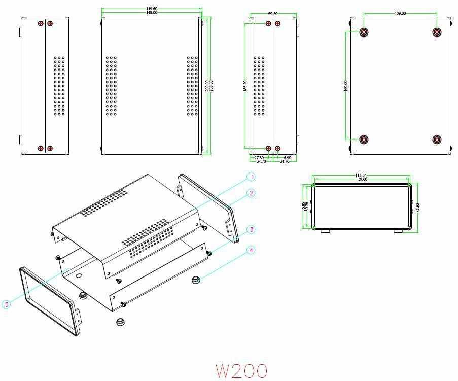 200*150*70mm caixa de Ferro para o projeto eletrônico caixa diy caso amplificador de potência elétrica de conexão de fio shell caso da placa do PWB