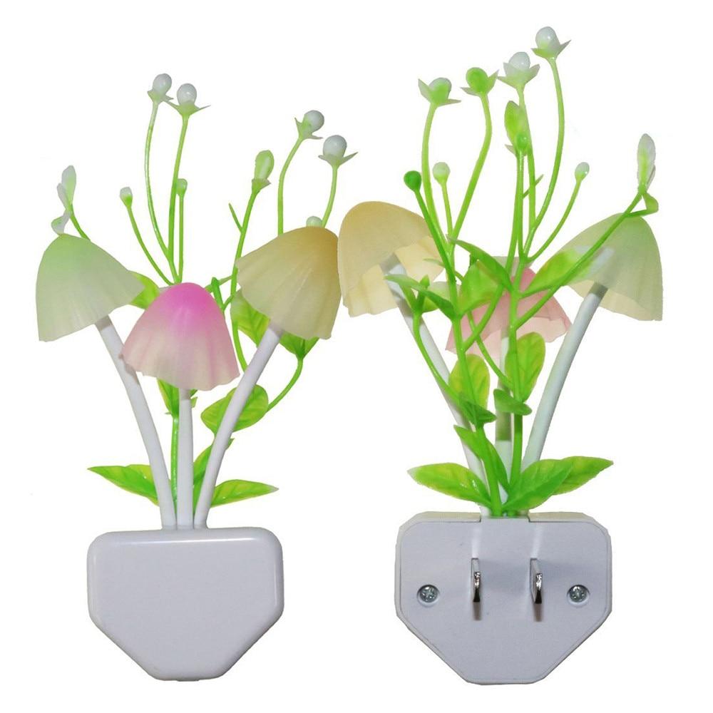 Romantic Colorful Sensor LED Mushroom Night Light Wall Lamp Home Decor Bedroom Light  Gift Romantic Colorful Lights