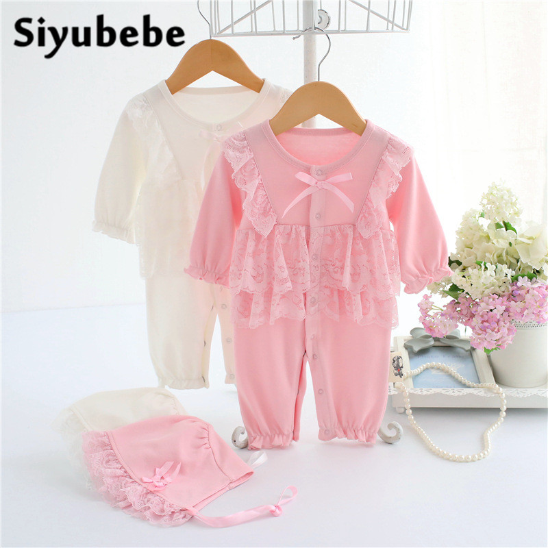 Baby Girl Rompers 2 Pieces Set 2016 High Quality Long Sleeve New Infant Princess Lace Dress Bebe Clothing New Born Baby Clothes baby lace rompers 3 pieces set new infant princess style party dress ropa bebe clothing coveralls newborn baby girl clothes