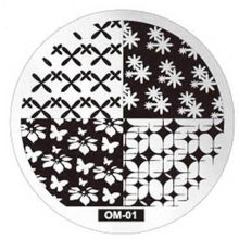 1pc Nail Stamping Plate Round Flower Series Nail Art Stamp Image Plate Stencil for Nails DIY Decoration Manicure Tools #H(China)