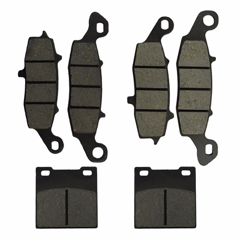 Motorcycle Front and Rear Brake Pads for Suzuki GSX 750 GSX750 F Katana 1998-2006 Black Brake Disc Pad motorcycle front and rear brake pads for suzuki gsx 600 gscx600 f katana 1998 2006 black brake disc pad
