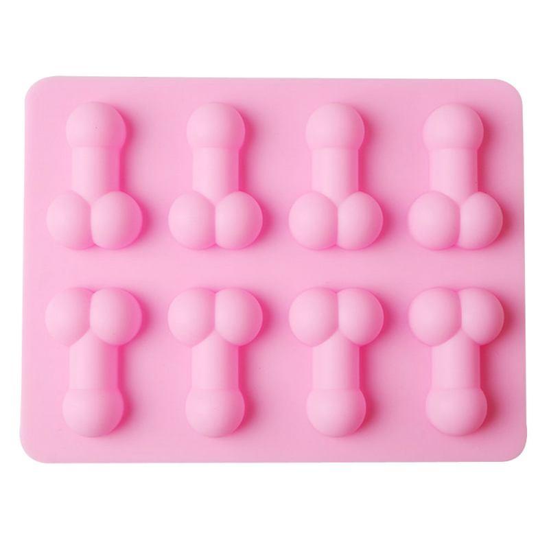 Dick <font><b>Ice</b></font> Tray Sexy Funny Penis Cube Cake Mold Silicone Mold Candle Moulds Sugar Craft Tools Chocolate <font><b>Ice</b></font> Mold Dropshipping image