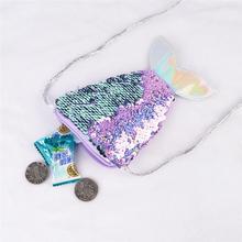 Porte-monnaie et portefeuille à paillettes pour femmes, pochette de monnaie, décoration de fête, nouvelle mode