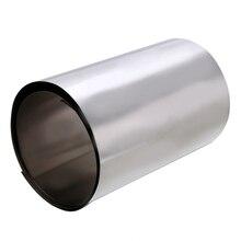 1 шт. 500 мм Ti Gr2 титана тонкая серебряная металлическая квадратная пластина лист фольга ремесло 0,1x100 мм для промышленных инструментов