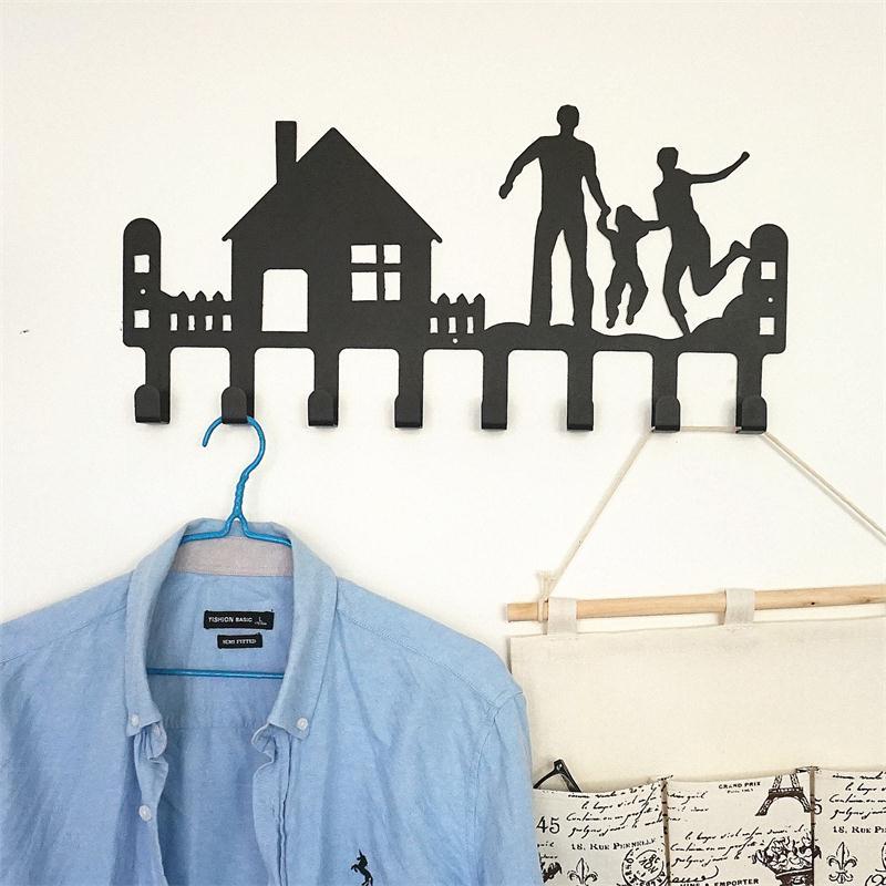 все цены на Super Strong Coat Hook Wall Wall Hanging Hook Clothes Hanger Creative Iron Art Door Hook 51*25*4CM