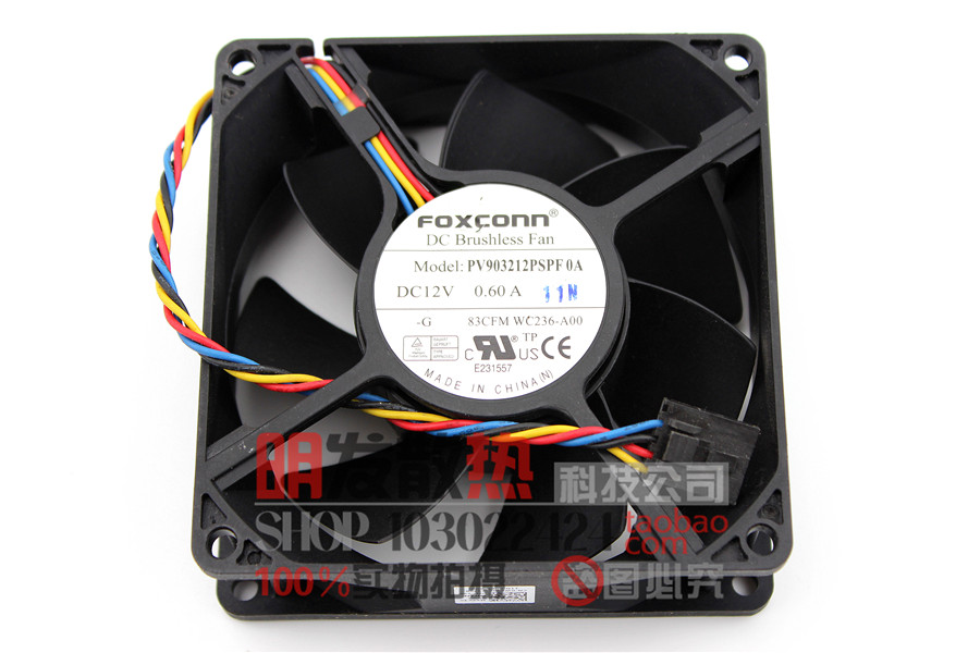 New Original PV903212PSPF 0A 9232 12V 0.6A Chassis CPU Fan