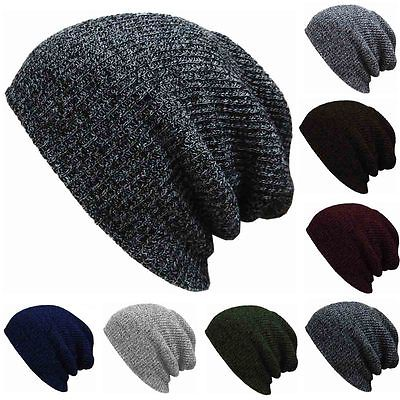 7 Colors Men Slouch Skull Cotton Warm Oversize Long Beanie Women Baggy Cap Crochet Knit Ski Hat hot winter beanie knit crochet ski hat plicate baggy oversized slouch unisex cap