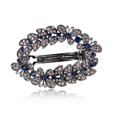 Fashion Hair Clips Accessories Plated clips Hair Accessories Pin Ponytail Rhinestone Hair clips Jewelry Women