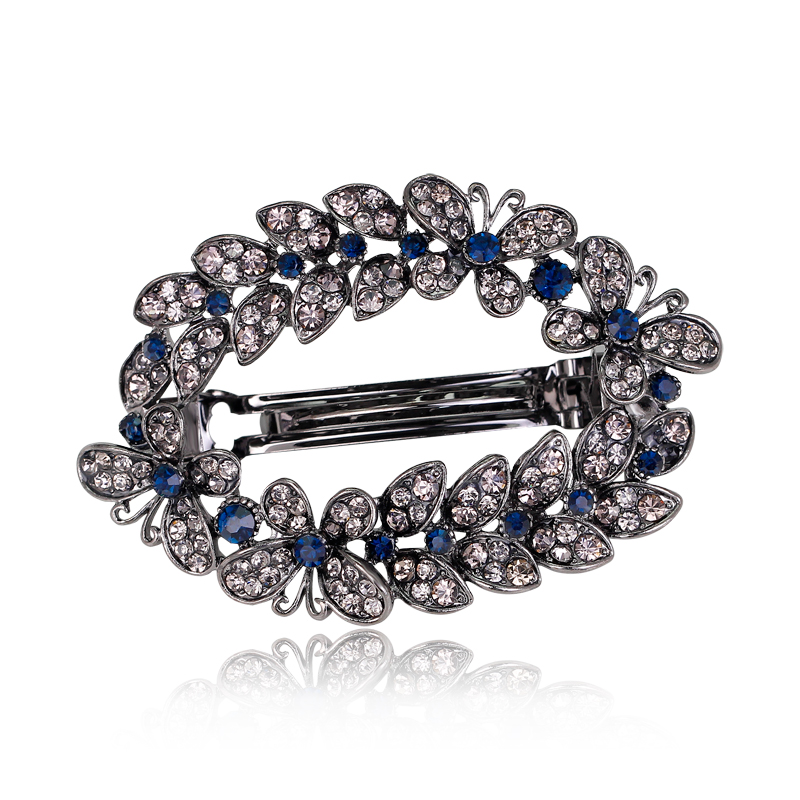 Fashion Hair Clips Accessories Plated clips Hair Accessories Pin Ponytail Rhinestone Hair clips font b Jewelry