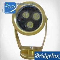 10 teil/los DHLFedex UPS freies schiff 3 Watt LED unterwasserlicht lampe 3 Watt IP68 goldenen wasserdichte beleuchtung geysir pool teich LAMPE DC12V