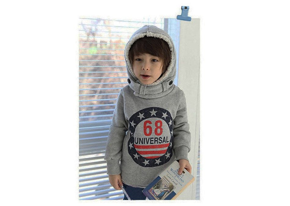 Children Boys Fleece Hoodie Jacket Coat (10)