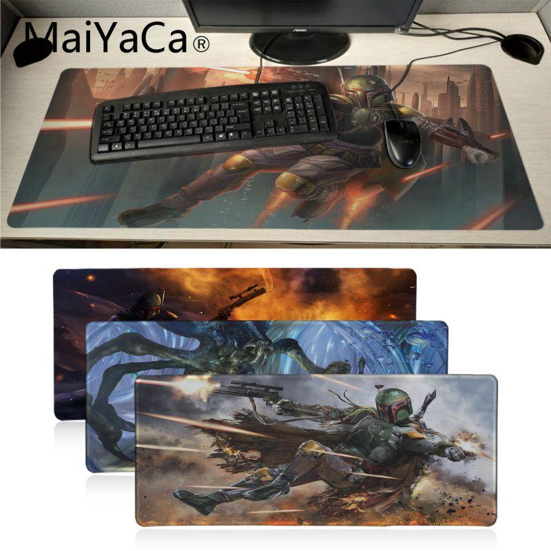MaiYaCa Star Wars Boba Fett Durable Rubber Mouse Mat Pad Gamer Gaming Keyboard Mat Computer Tablet Anime Mouse Mice Mat