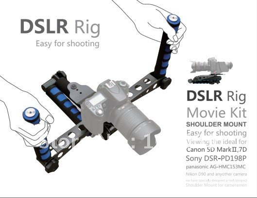 DSLR Rig Movie Kit Shoulder Mount for DV Canon Sony Nikon pentax camera dslr rig double hand handgrip shoulder