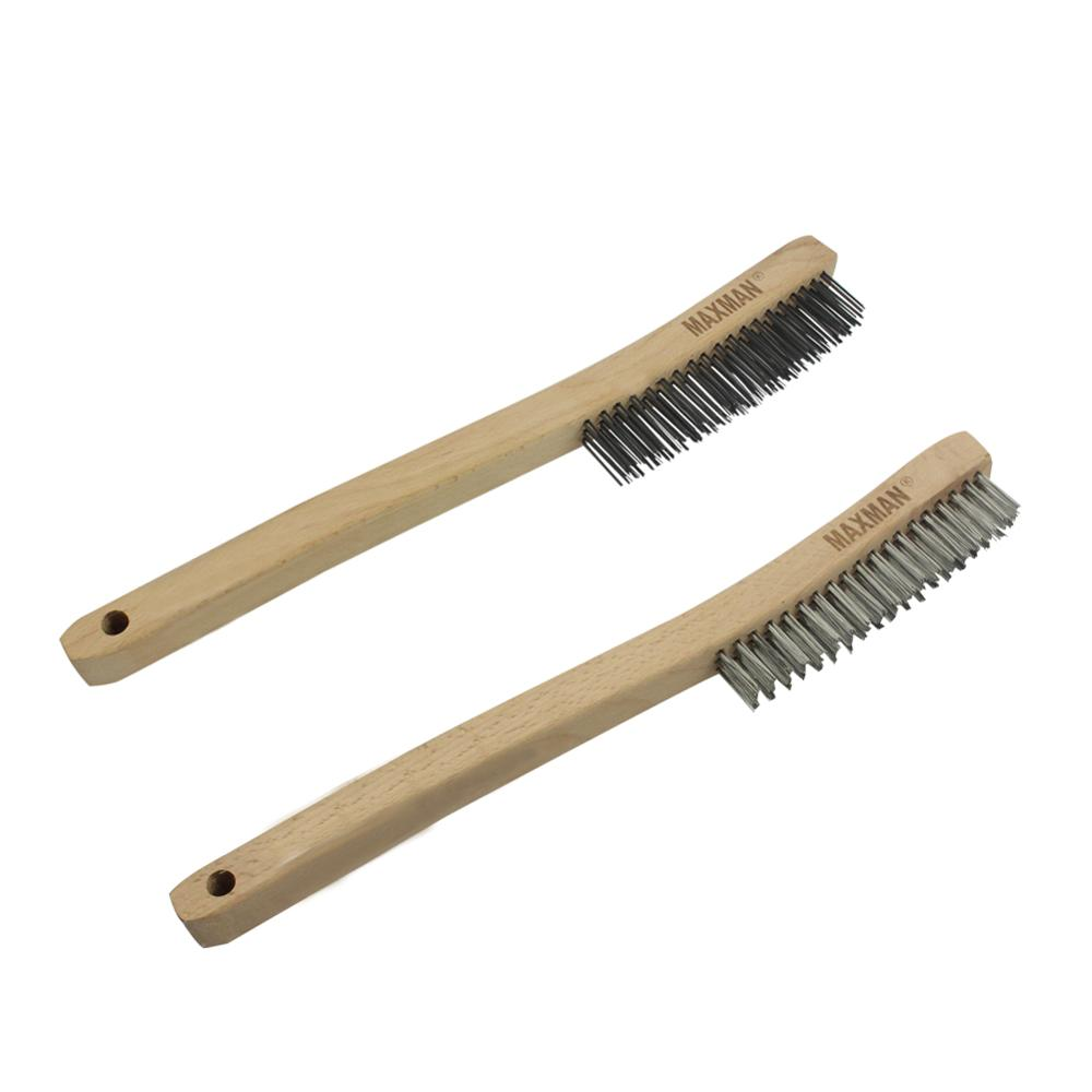 13 8inch brush carbon steel Stainless Steel Wire Scratch Brush 3x19 rows for Industrial Devices Surface Polishing Cleaning Brush in Brush from Tools