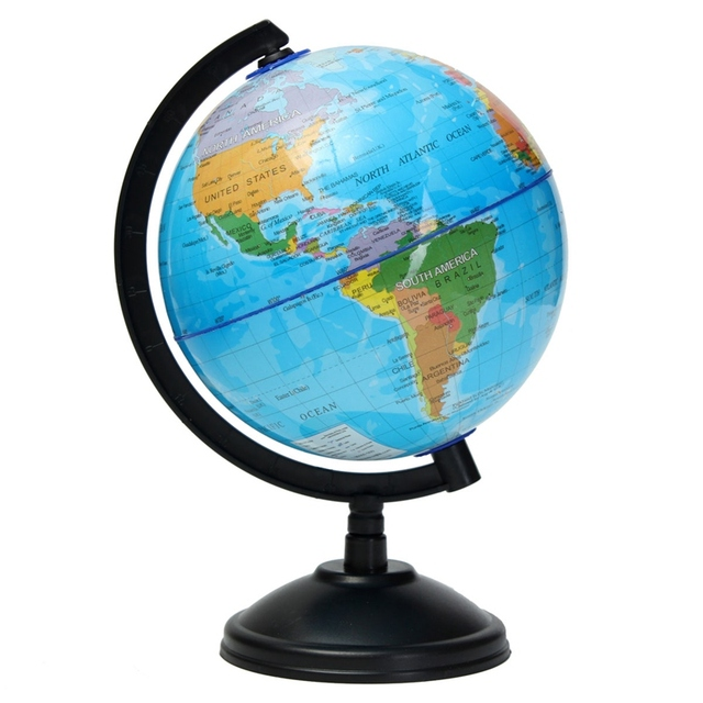 Kiwarm newest 1pc 14cm world globe atlas map with swivel stand for kiwarm newest 1pc 14cm world globe atlas map with swivel stand for home office decoration craft gumiabroncs Image collections