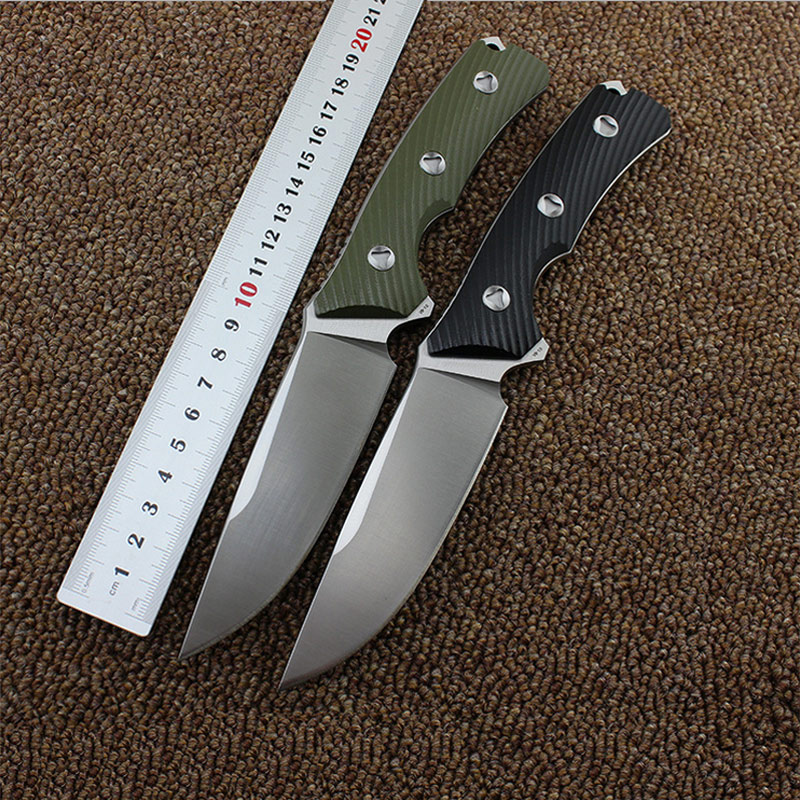 High Quality VG-10 blade G10 handle hunting fixed knife With K sheath Outdoor camping survival tool tactical utility EDC knives edc gear outdoor 6 slot design tool box with blade saw opener bar code sheet s carabiner
