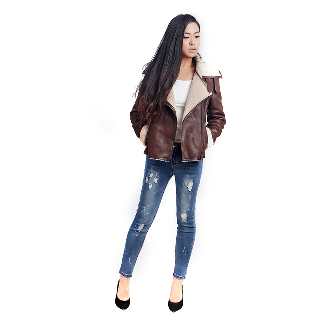 Fashion Brand N0 2 Bomber Jacket Leather Jacket Winter Jacket Women