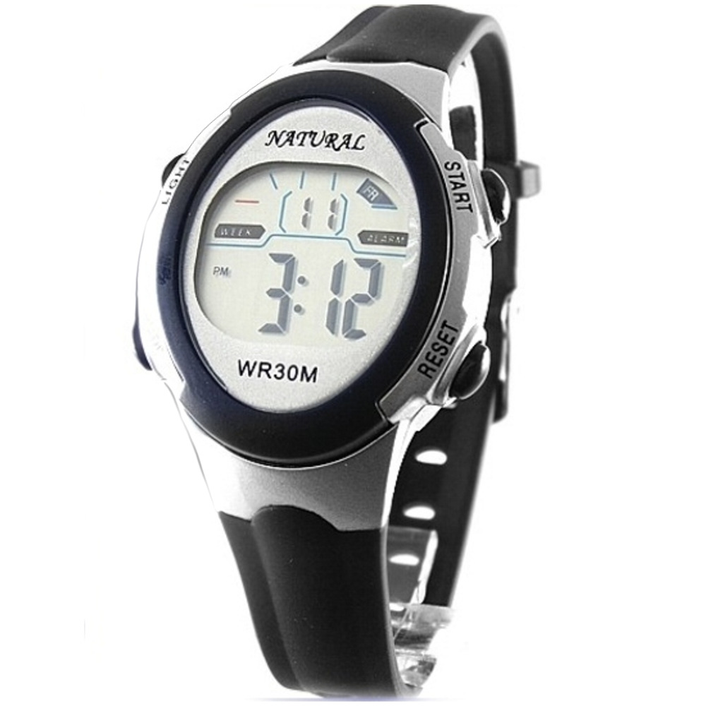 digital wristwatches DW327A Sport Date Alarm BackLight Slim Water Resistant Black Color children watch Digital Watch