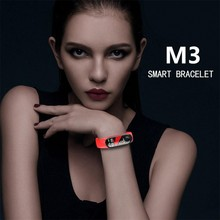 Top M3 Smart Bracelet Fitness tracker Smart Watch with Heart Rate Waterproof Bracelet Pedometer Wristband For IOS and Android(China)
