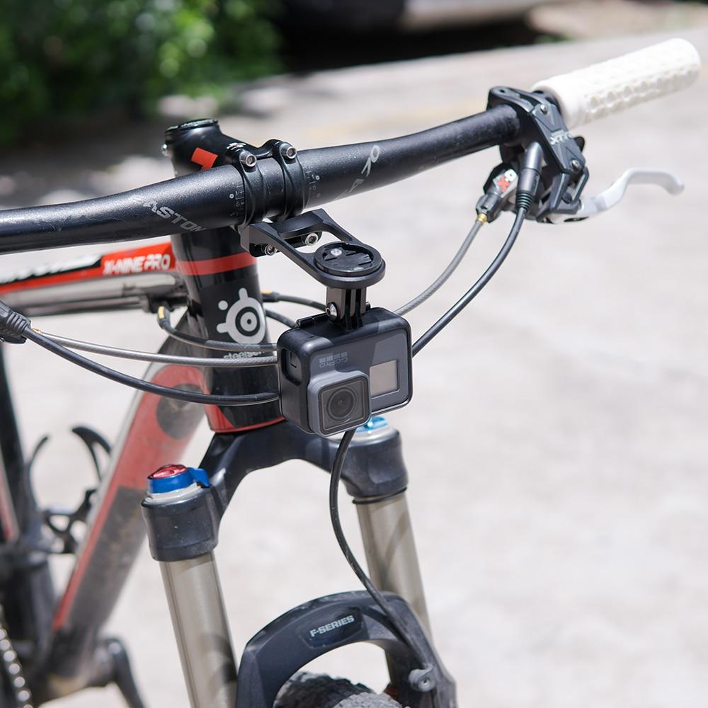 JohnJohnsen ZTTO MTB Road Bike Computer Soporte para c/ámara Manillar Extensi/ón Bicicleta GPS para Garmin Bryton CATEYE GoPro Mount Negro