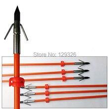 Бесплатная доставка GPP 32 дюймовые оранжевые охотничьи стрелы Bowfishing с широкой головкой 6 шт/ПК