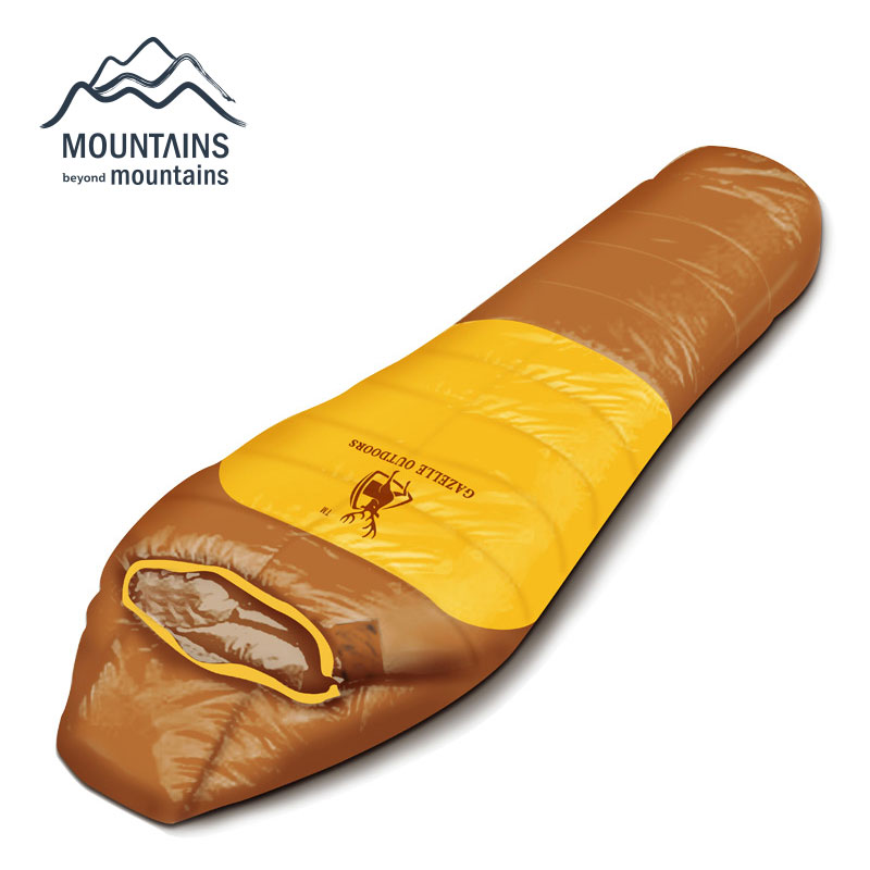Adult Down Sleeping Bag Thermal Autumn Winter Mummy Hooded Travel Camping Water Resistant Thick Sleeping Bags Outdoor Keep Warm aotu outdoor sleeping bag adult thermal autumn winter envelope hooded travel camping water resistant thick sleeping bag