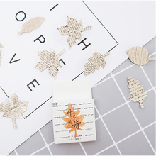 45 Pcs/box leaves poetry paper sticker decoration stickers DIY for craft diary scrapbooking planner kawaii label