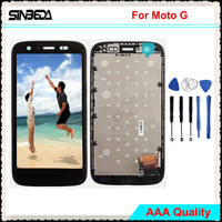 Sinbeda 100 Teste For Motorola Moto G XT1032 XT1033 4 5 Black Color LCD Display Touch