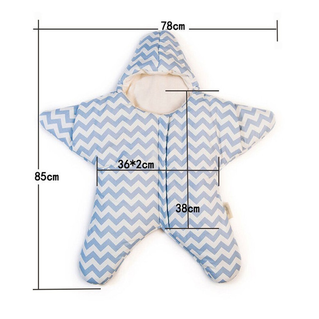 Warm Star Shark Baby Sleeping Bag Winter Baby Sleep Sack Baby Blanket Swaddle Kids Sleeping Bags S2