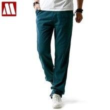 5b7013be52 2018 Summer Fashion Men linen pants Comfortable Male trousers jogger pants  casual straight pants plus size