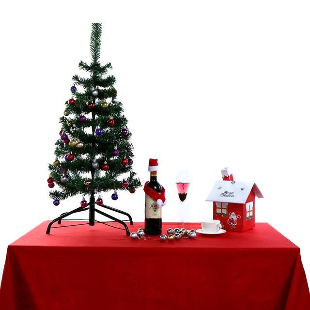 Christmas Table Cloth Placements Red Rectangular Xmas Tablecloth Table  Covers Home Decoration For Party Christmas 212x136cm