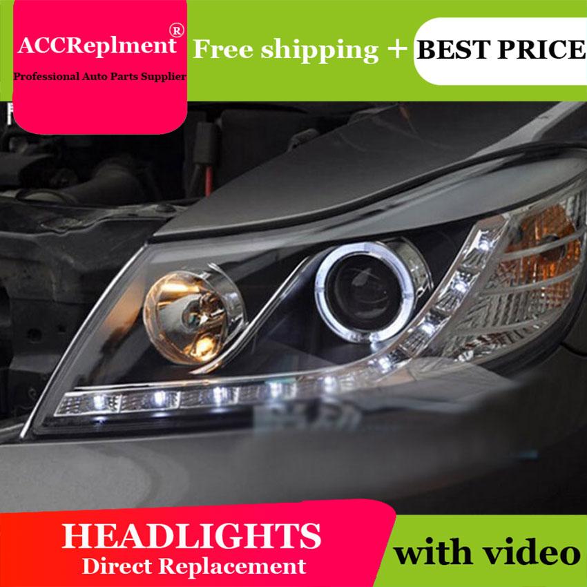 Авто PRO 2009 2012 для skoda octavia фары для автомобиля Стайлинг U LED свет руководство ангельские глазки DRL Парковка для octavia a 5 головная лампа - 5