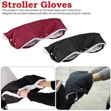 лучшая цена Kids Winter Warm Stroller Gloves Pushchair Hand Muff Waterproof Pram Accessory Mitten Baby Clutch Cart Thick Fleece Gloves