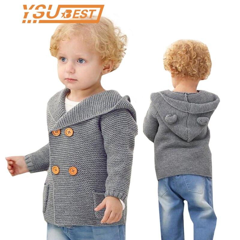 e234414dde1f New Kids Knitted Cardigan Autumn Children Hooded Sweater Bear Boys ...