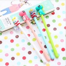 2pcs/lot Kawaii Ultraman and the little monster gel pen material escolar stationery canetas school office supplies