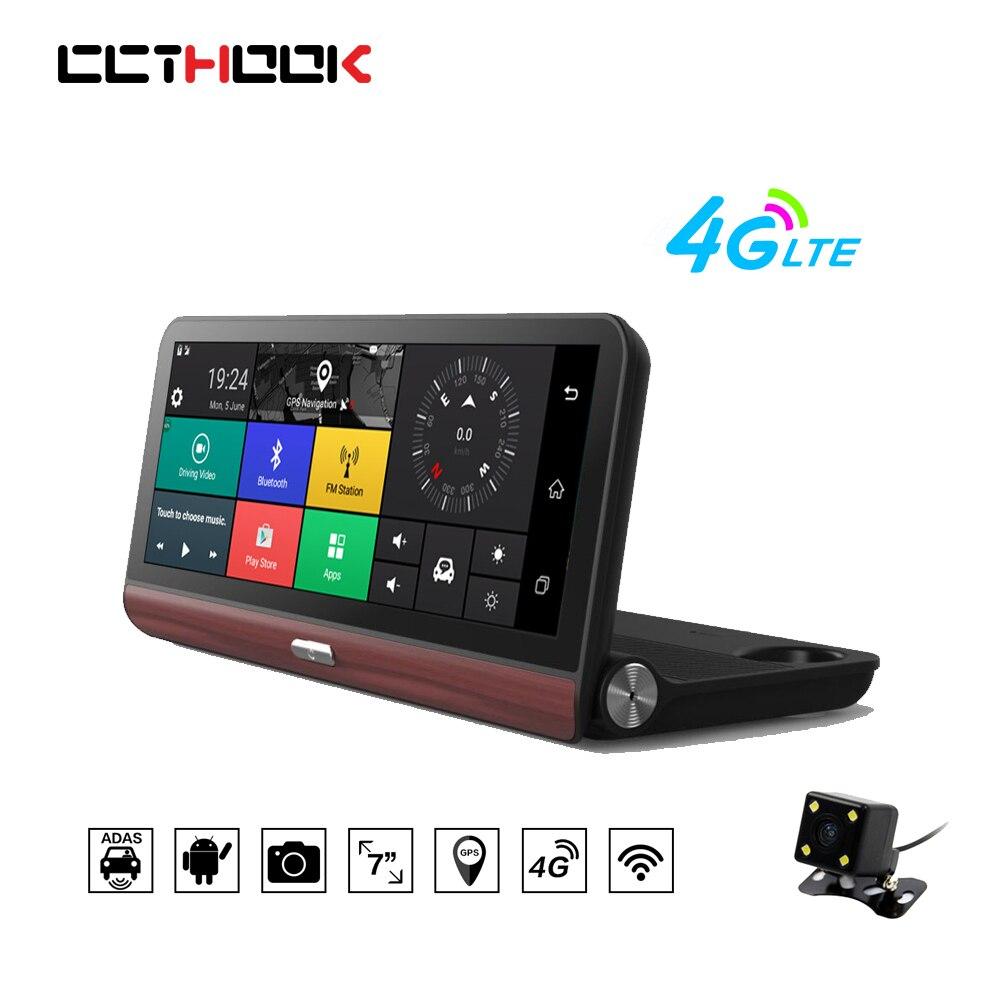 CCTHOOK 8 Inch 4G Car DVR GPS Navigation Android Dash Cam Camera Bluetooth FM Full HD 1080P Video Recorder Registrator ADAS DVRs