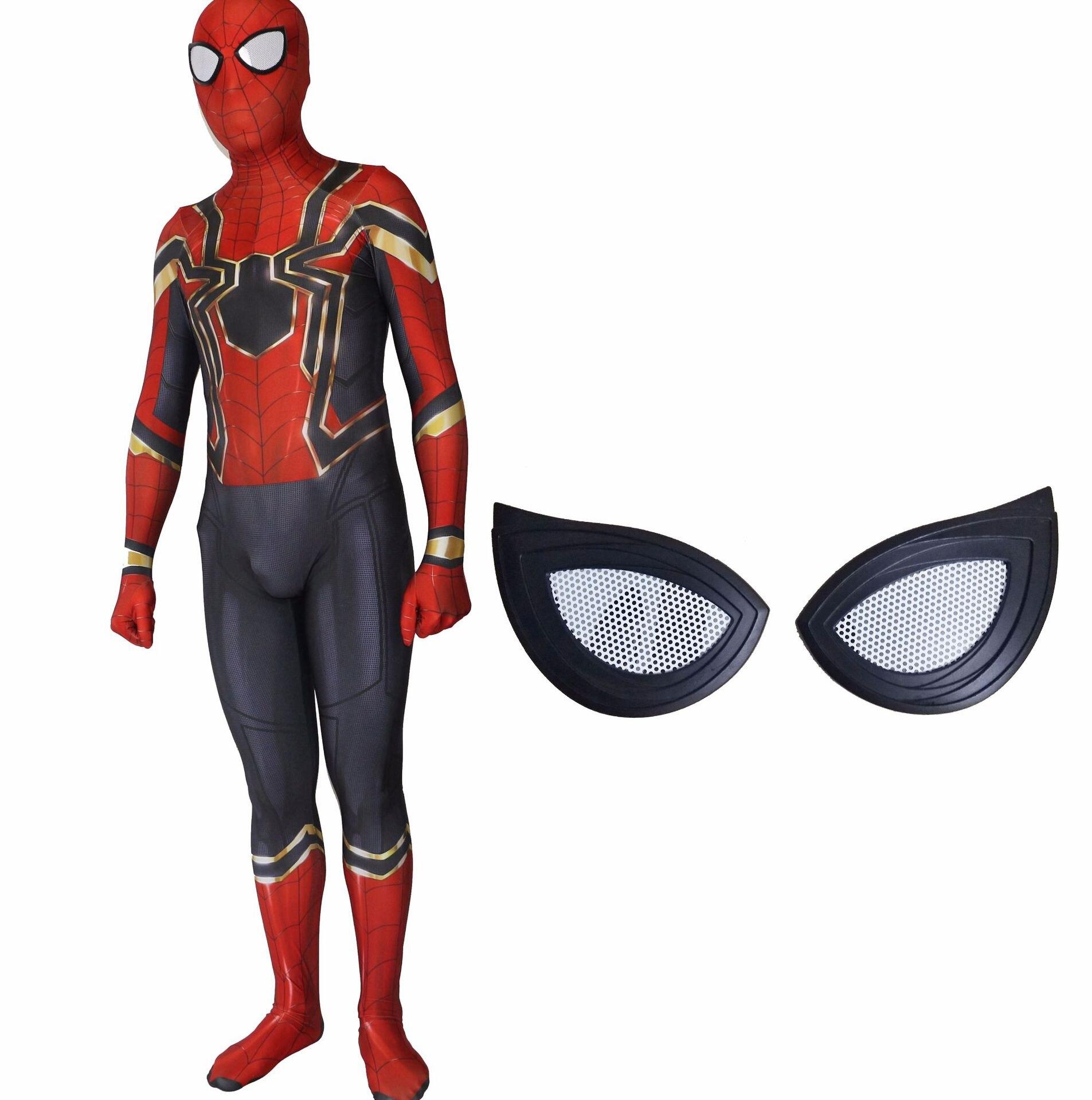 Adult Men Deluxe Spiderman Costume Homecoming Cosplay Amazing Superhero Fantasy Movie Fancy Dress