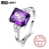 Vintage Jewelry 5 25ct Amethyst 925 Sterling Silver Ring Cut Purple CZ Women Wedding Anel Aneis
