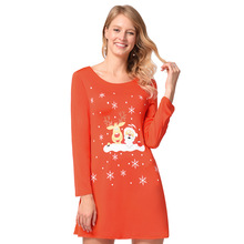 Christmas ladies  dresses Snowman elk print dress female Christmas clothing  qiu dong amazon hot style 85503dd6ae41