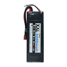 2pcs/lot XXL Power Hard Case T Plug rc Car Lipo Battery 7.4V 6000mAh 50C max 100C 2S for 1/10 RC Car Traxxas Tamiya quadcopter