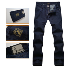Billionaire italian couture men's jeans 2016 fresh first rank commercial comfortable embroidery gentleman pants free shipping