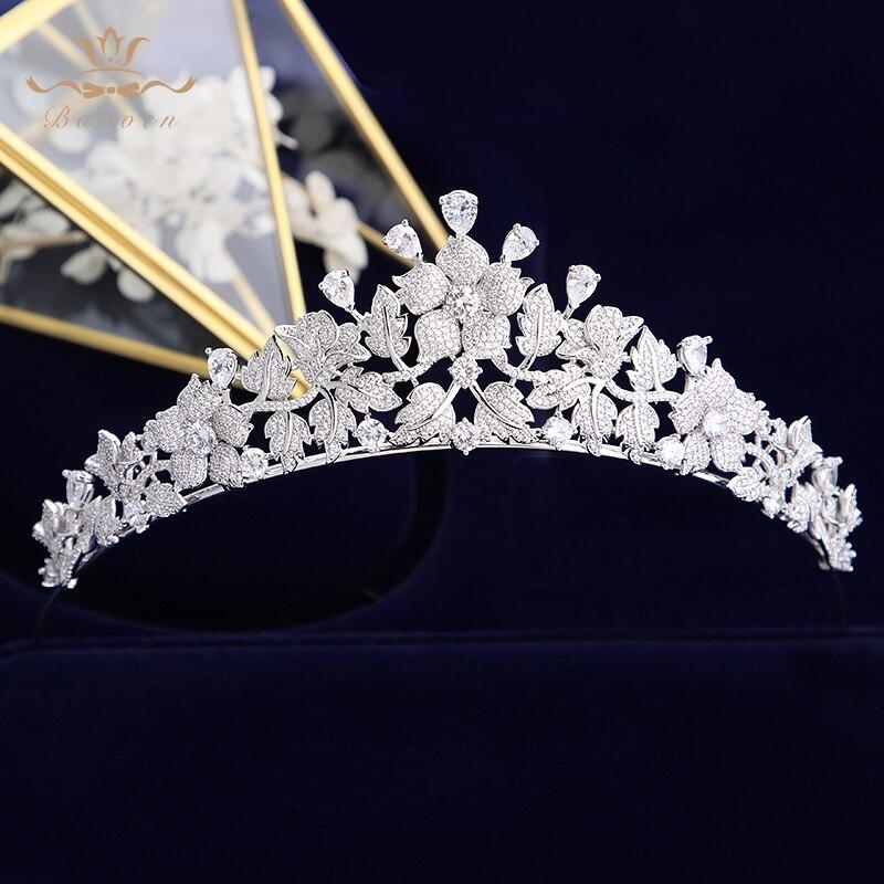 Kobieta ślubne akcesoria do włosów ślubne dla nowożeńców tiara korony Tocado Novia nakrycie głowy włosy ślubne biżuteria królowa opaski na głowę w Biżuteria do włosów od Biżuteria i akcesoria na  Grupa 1