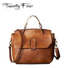 Twenty-four Large Size Handbag Retro Bag Real Leather Tote Bag Flap Closure Fashion Purse Bag Woman Sequined Shell Shoulder Bag
